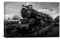Steam Train Black and White, Canvas Print