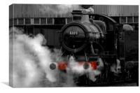 Steam Train selective colour, Canvas Print