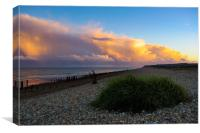 Storm clouds at Winchelsea Beach, Canvas Print