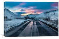 Bwlch Pass Winter, Canvas Print
