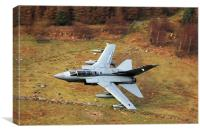 Tornado GR4 056 low level in wales, Canvas Print