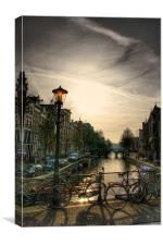 The Amsterdam Canals, Canvas Print
