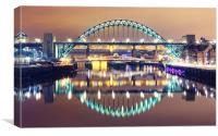 Newcastle City Lights, Canvas Print