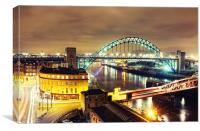 Bright City Lights, Newcastle, Canvas Print