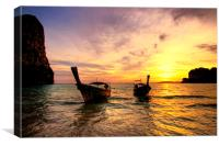 Railay Sunset, Canvas Print