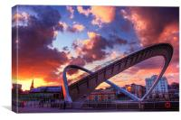 The Millennium Bridge, Sunset., Canvas Print