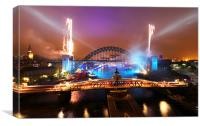 Great North Run Celebrations, Canvas Print