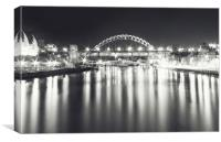 Black and White Nights, Canvas Print