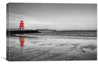 The Groyne in Red, Canvas Print