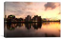 Sunset on the Tyne, Canvas Print