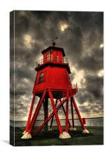 Groyne Lighthouse, Canvas Print