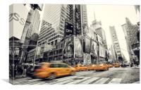 Times Square Zoom, Canvas Print