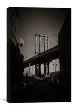 Manhattan Bridge, Iconic., Canvas Print