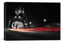 Tower Bridge Light Trails, Canvas Print