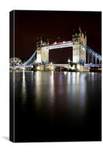 Tower Bridge at Night, London!, Canvas Print