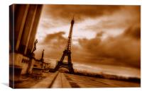 Eiffel Tower Sepia, Canvas Print