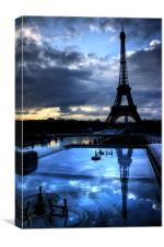 An Eiffel Reflection, Canvas Print