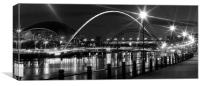 Newcastle City Lights, Canvas Print