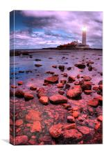 St Marys Island Rocks, Canvas Print