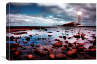St Marys Lighthouse, Whitley Bay, Canvas Print