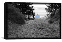 Hidden Paradise, Beach Hut at Wells, Canvas Print
