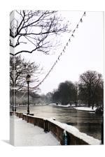 A Frozen River, Canvas Print
