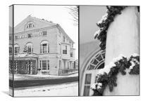 Swan Hotel @ Christmas, Canvas Print