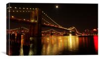 Brooklyn Bridge, New York, Canvas Print