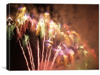 Pyrotechnic perfection, Canvas Print