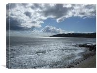 Dorset Days - Charmouth Beach, Canvas Print