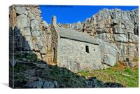 St Govan's Chapel, Canvas Print