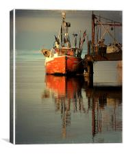 old boat - new version , Canvas Print