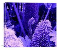 Jurassic Park Purple, Canvas Print