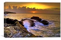 Port Gaverne Sunset, Canvas Print