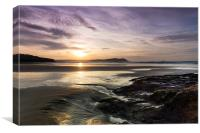 Polzeath Sunset, Canvas Print