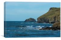 Pentire Head, Canvas Print