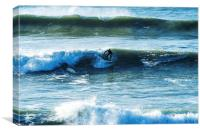 Polzeath Surfer, Canvas Print