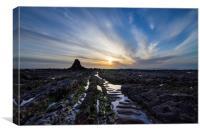 Black Rock Widemouth Bay, Canvas Print