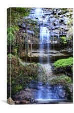 Tranquil Waterfall, Canvas Print