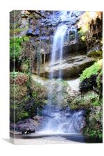 Secluded Tranquil Waterfall, Canvas Print