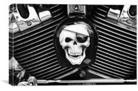 Bad to the bone!, Canvas Print