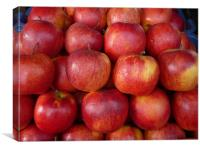 red group of apples, Canvas Print