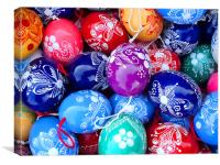 Easter eggs painted decoration, Canvas Print