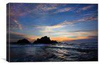 Big Sur sunset, Canvas Print