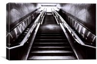 Silver Stairway, Canvas Print