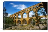 Pont du Gard, Canvas Print