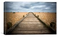 Dungeness Beach Walkway, Canvas Print