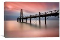 Wooden Pier at Dawn, Canvas Print