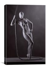 Nude with rope., Canvas Print