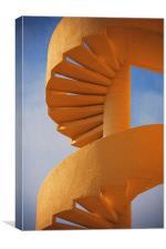 Golden Stairway, Canvas Print